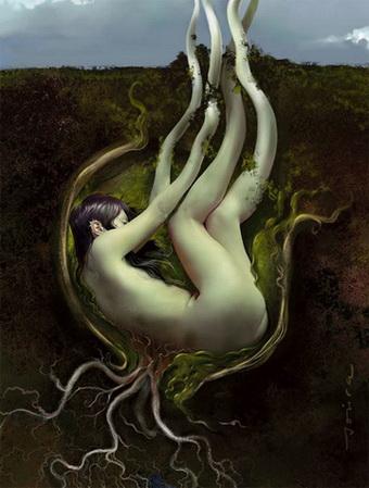 mujer raíz y raíz de mujer. (sostén del) Árbol de la Vida ...