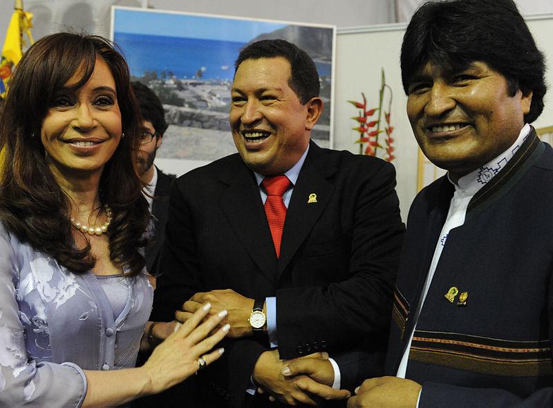 Cristina Kirchner, Chávez, Evo Morales