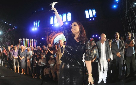 Fiesta de la Democracia y los Derechos Humanos, Cristina Kirchner y el 9 de diciembre pasado.