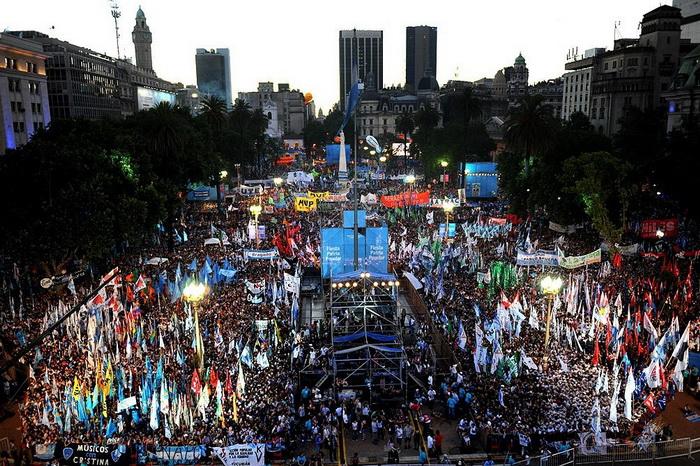 Buenos Aires: fiesta histórica por la Democracya los Derechos Humanos: 9 diciembre 2012.