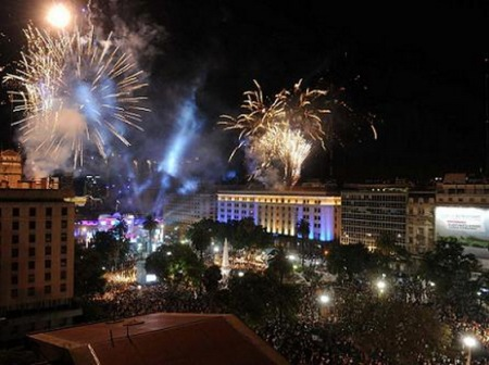 UN 2013 SIEMPRE ASÍ: Celebración Popular por la Democracia y los Derechos Humanos, el pasado 9 de diciembre pasado en Plaza de Mayo, Buenos Aires, Argentina.