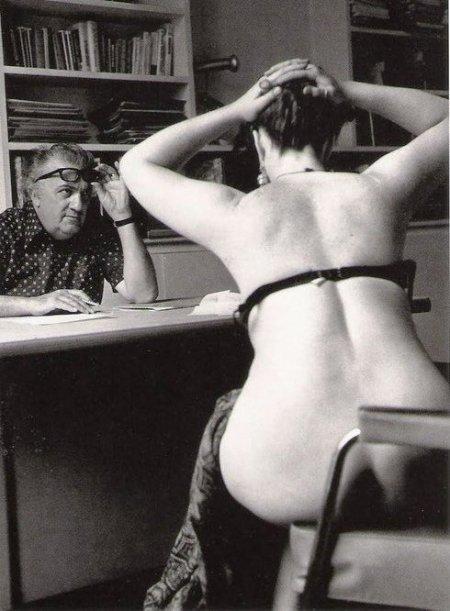 Fellini en casting para una de sus películas