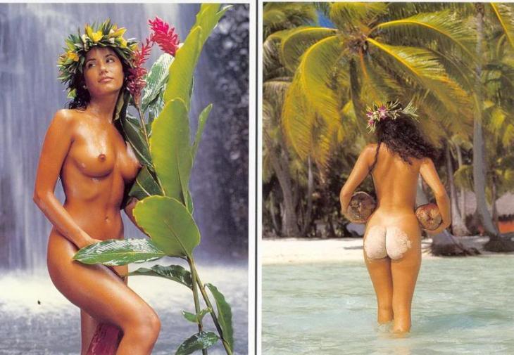 Tahitiana actual (modelo), mujer de la Polinesia que amaron Robert Stevenson, Gauguin, Jacques Brel y otros artistas.