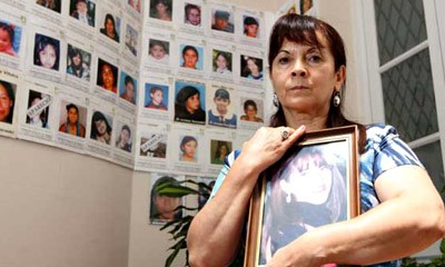 Susana Trimarco, madre de marita Verón, muchacha secuestrada y prostituida, aún no encontrada.