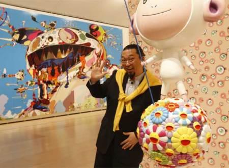 """Takashi Murakami, para muchos, en Argentina, podría ser un """"chanta"""". O bien un buen artista que maneja bien el espectáculo y la publicidad."""
