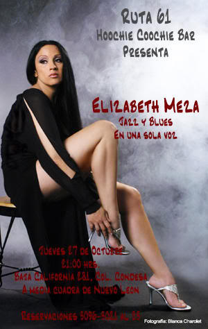 Elizabeth Meza, cantante de jazz mexicana.