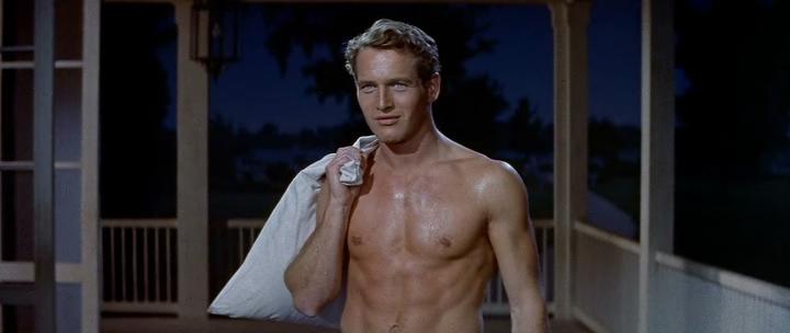"""""""Largo, cálido verano"""". Paul Newman, o Pawlie. También por allí anduvo Orson Welles, todos transpirados de pasiones y furores de verano. Martin Ritt, 1958. William Faulkner."""