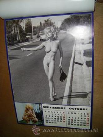 Madonna hace dedo desnudo. Buena foto en el estilo de verismo norteamericano, derivado del periodismo de calle. Interview, calendario 1993.