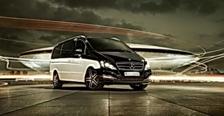 """""""Viano. Visión de Diamante"""". Camioneta de lujo Mercedes benz. Salón de Beijing 2012."""