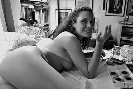 Aurélie, profesora de literatura, francesa, y modelo vivo. Amilcar Moretti. Argentina, 2013.