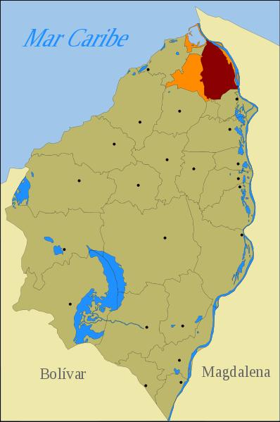 Barranquilla, en el Departamento Atlántico, al norte de Colombia.