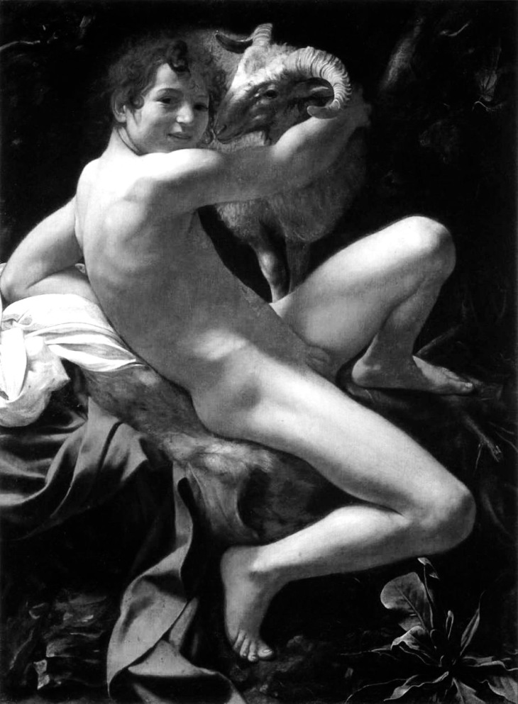 Caravaggio  st-john-the-baptist-youth-with-ram