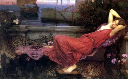 """""""Ariadna"""", por John William Waterhouse, de los más célebres  prerrafaelistas ingleses."""