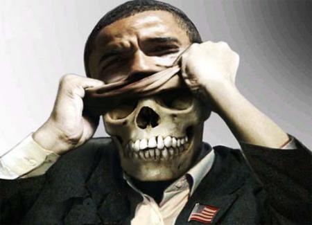 Obama, máscara y rostro.  El rostro como máscara. La máscara como verdad.