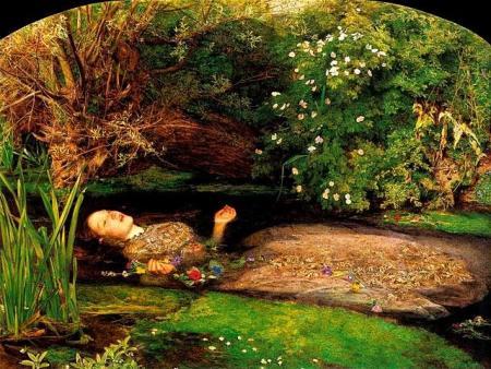 """""""Ofelia"""", clásico del prerrafaelismo, de Sir John Everett MIllais."""