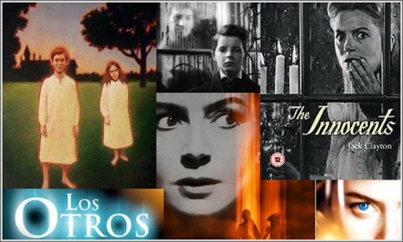 """""""Otra vuelta de tuerca"""", sobre la novela de Henry James, maestro de maestros (por ej., Borges), tuvo varias versiones para cine cine y televisión. """"La huérfana"""" puede considerarse un derivado."""