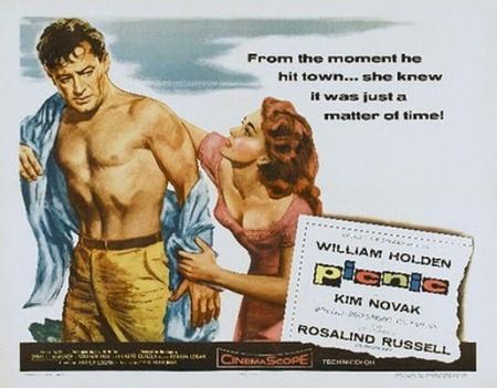 """William Holden en """"Picnic"""", después de que le rompieron la única camisa que tenía (y de manga corta)."""
