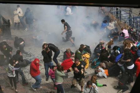 Bomba en maratón de Boston. Diario USA: http://www.nydailynews.com/