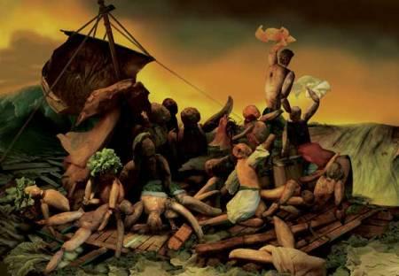 """""""Puerto de salvación """" o """"Nave de los locos"""".  En el monasterio de las Descalzas Reales de Madrid se encuentra un cuadro anónimo, atribuido a un discípulo del Bosco, conocido como Puerto de Salvación o Nave de la ¡glesia"""". Pertenece a una tradición pictórica y literaria que se remonta a la Edad Media y tiene una iconografía muy clara: la nave deja atrás la tierra de los pecados y dirige su proa hacia el """"portus salutis"""". El mar está plagado de monstruos marinos, demonios y herejes que atacan al barco y a los creyentes que pretenden refugiarse en él."""" http://clasicasesplugues.blogspot.com.ar/2011/09/la-nave-de-los-locos.html"""