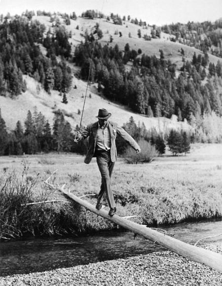 Gary Cooper en jornada de pesca.