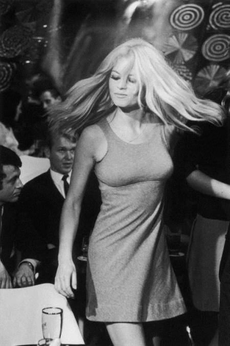 Brigitte Bardot, en 1960, durante una filmación.
