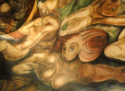 el mural Ejercicio Plástico forma parte del Museo del Bicentenario, emplazado en la Aduana Taylor (hacia el lado este de la Casa Rosada).