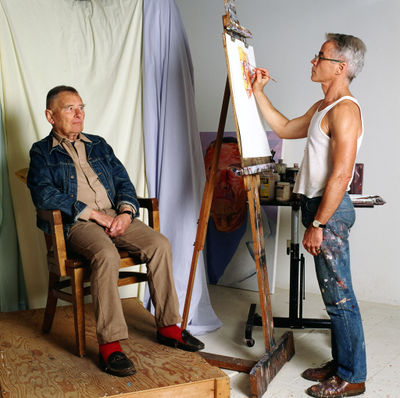 Christopher pintado por su pareja Don