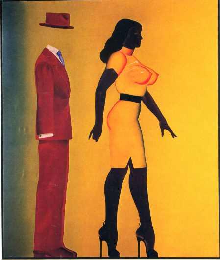 Pintura de Allen Jones, un clásico del Pop Art de los años 50 y 60.