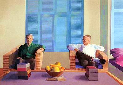 Isherwood y Don Bacharday pintados nada menos que por el artista inglés David Hockney.