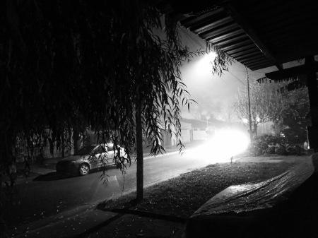 Brumas al Sur, pasando la 80. Foto por Amílcar Moretti. Viernes 5 de julio 2013. Argentina.
