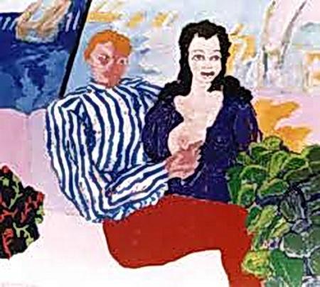 Obra de Carlos Gorriarena (1925-2007), uno de los máximos exponentes  del expresionismo argentino derivados de aquel otro que reflejó la crisis de la República Alemana de Weimar, antes del ascenso del fascismo de Hitler, en 1933.