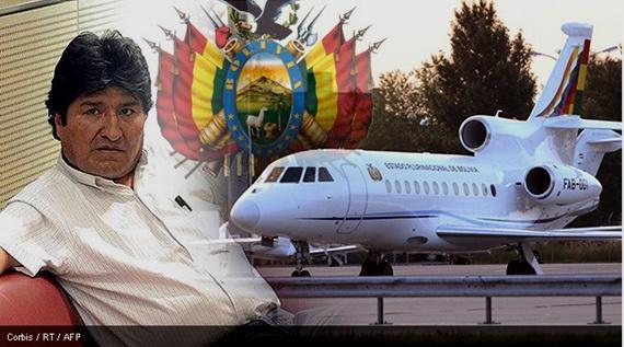Evo Morales, presidente de Bolivia, demorado-detenido en Austria por España, Italia, Francia y Portugal.