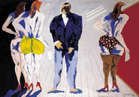 Pintura del maestro argentino Carlos Gorriarena, 1997.