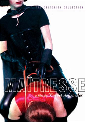 """""""Maitresse"""", afiche de la película de Schroeder con diseño de arte de Alex Jones, una de cuyas fotos subasta Christies a 45 mil dólares."""