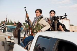 Combatientes mujeres cercanas a Al Qaeda, contra Siria ahora.