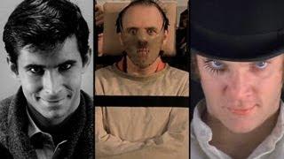 """Collage de malos: Norman Bates, el Dr.   Anibal Lecter y el protagonista de """"La naranja mecánica"""""""
